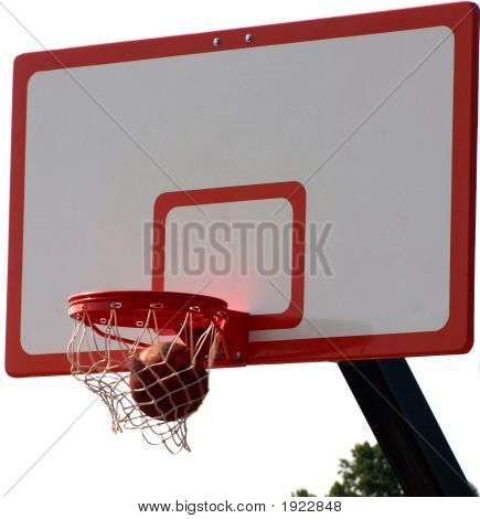 Basketball Going Therogh The Net