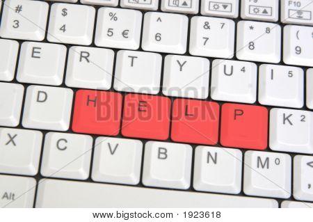 Closeup Of Laptop Keyboard