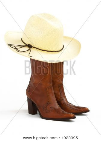 Cowgirl Hat And Boots 2