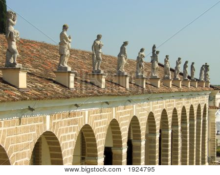 Statues Above Villa Manin Porch