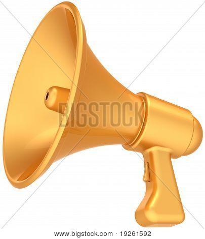 Megaphone announcement news golden luxury