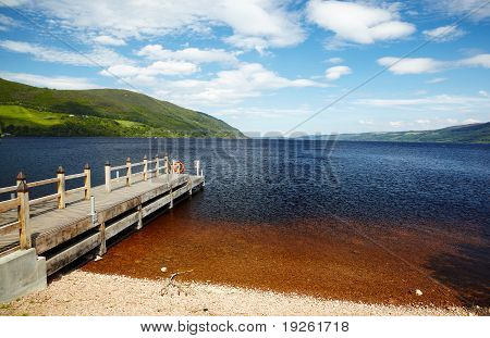 Planked Footway On Loch Ness