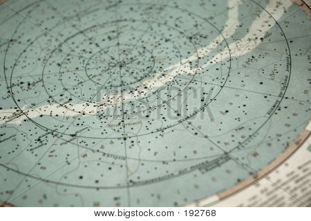 Old Sky Map (from 1891 Year)