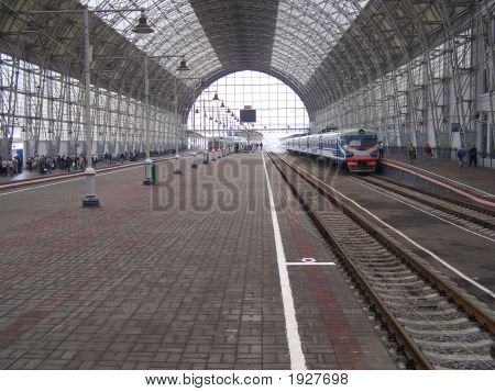 The Kiev Train Station In Moscow