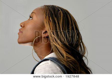 Profil anzeigen: junge Frau
