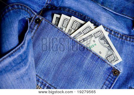 Pocket Money In Blue Jeans - US Dollars