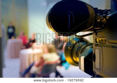 Professional digital video camera shoots the TV show