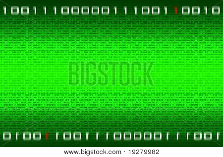 Matrix binary numbers background - computer generated