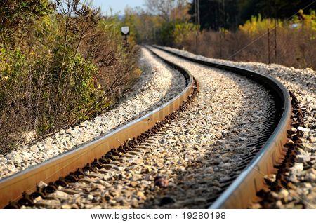 Railroad tracks in nature