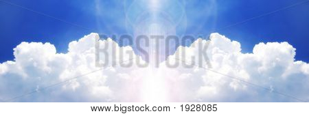 Powerful Cloud On The Blue Sky
