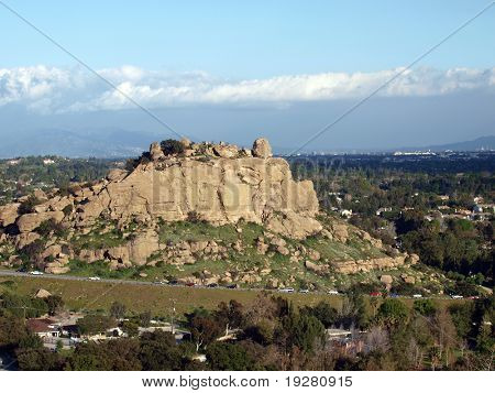 Famous Stoney Point climbing rock in the western San Fernando Valley portion of the City of Los Angeles.