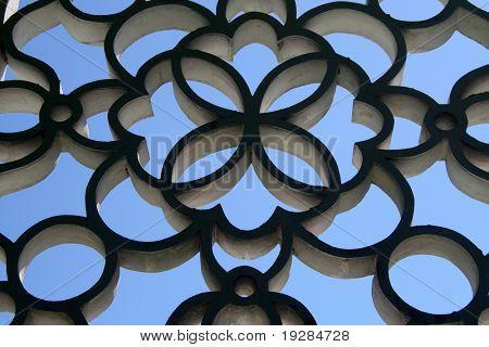 Asian style stone wall pattern