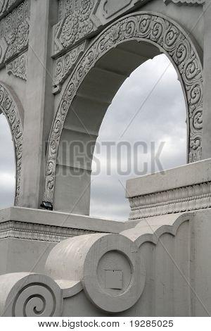 White arch way