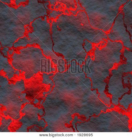 Fiery Volcanic Eruption
