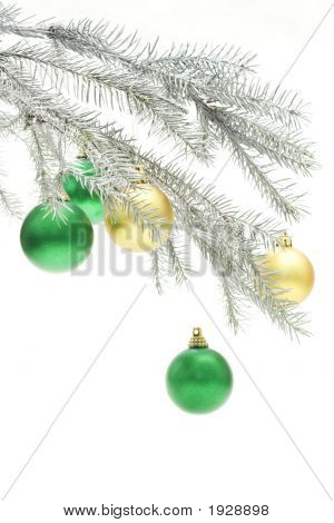 Silvery Christmas Ornament