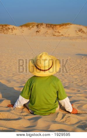 Boy And Sand