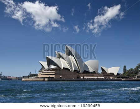 the sydney opera house from the harbour