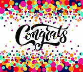 Hand Sketched Congratulations Lettering Typography. Hand Sketched Inspirational Quote congrats. poster