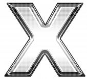 picture of letter x  - upper case x - JPG