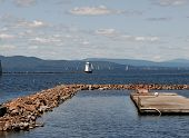 picture of burlington  - Lighthouse on Lake Champlain