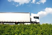 foto of moving van  - Big white truck - JPG