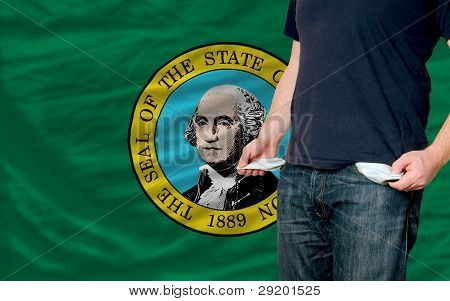 Recession Impact On Young Man And Society In American State Of Washington