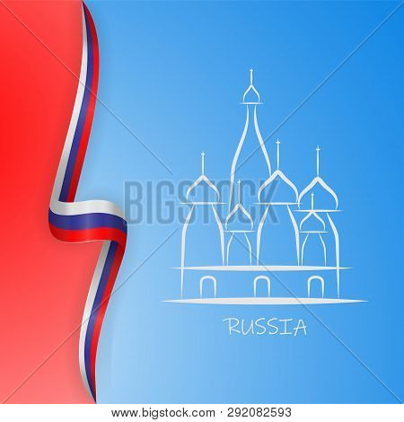 Illustration Inscription Russia Moscow Kremlin