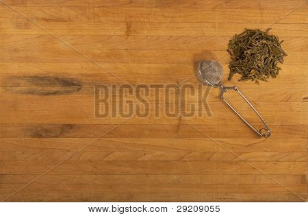 Green Tea With Strainer