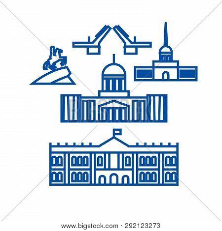 Sant Petersburg Russia Line Icon
