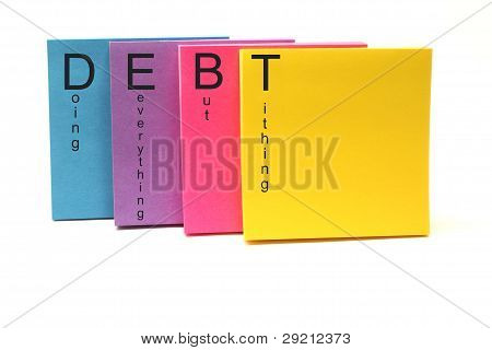 DEBT Sticky Notes