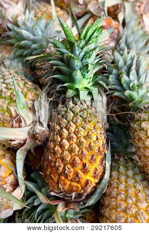 Pineapples In The Market