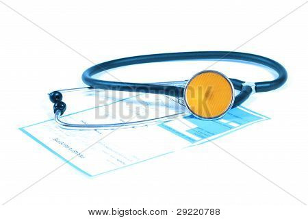 Stethoscope And Prescription