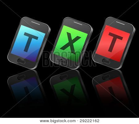 Concepto de mensajes de texto.