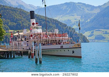 VITZNAU - JUNE 26 The steam boat