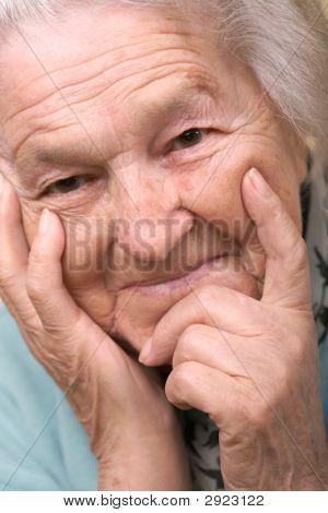 Senior Woman Sattisfied