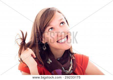 Cute Beautiful Young Woman Smiling