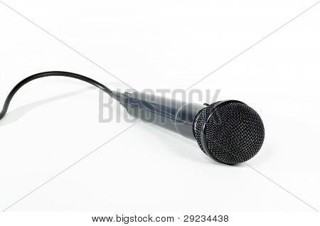Black Microphone With Cord