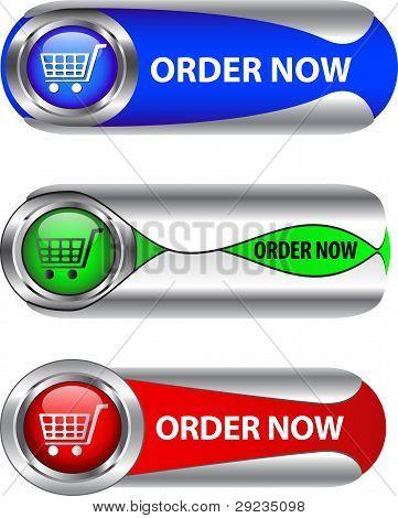Metallic Order Now Button/icon Set
