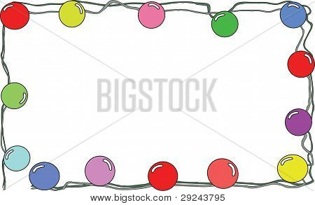 Garland With Varicoloured Marbles
