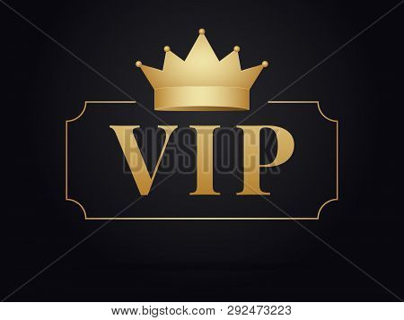 poster of Vip Member Golden Emblem .  Vip Gold Design .