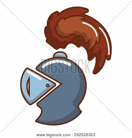 Knight Helmet Mascot Icon Cartoon