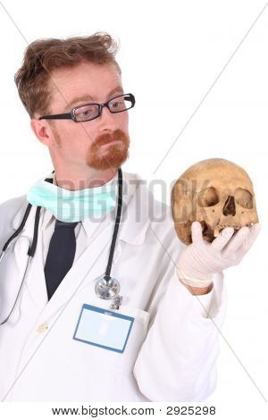 Doctor With Skull
