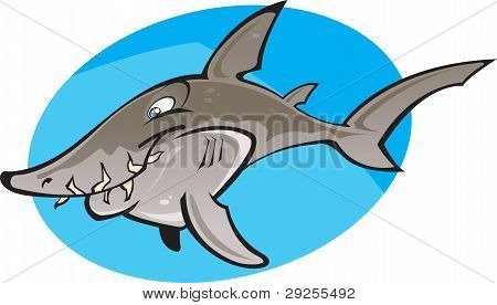 Cartoon Grey Nurse Shark