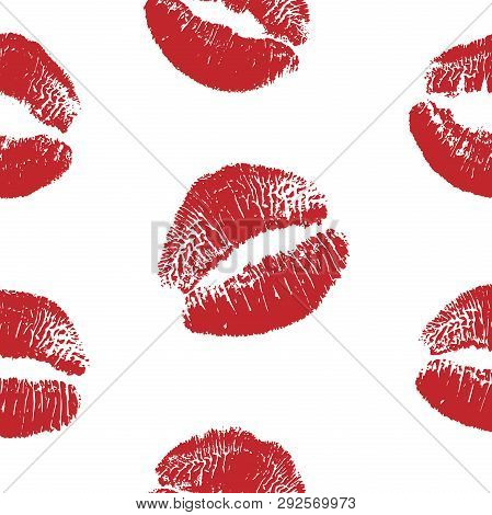 Vector Woman Red Lipstick Kiss