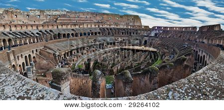 Internal View Of Colosseum, Panorama
