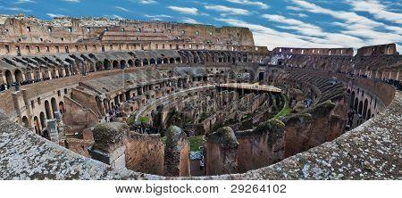 Internal View Of Colosseum, Panorama