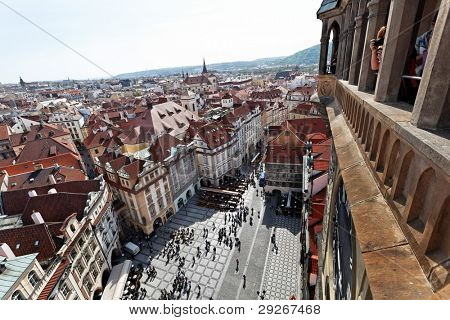 Prague, Old Town Square, View from the Town Hall tower
