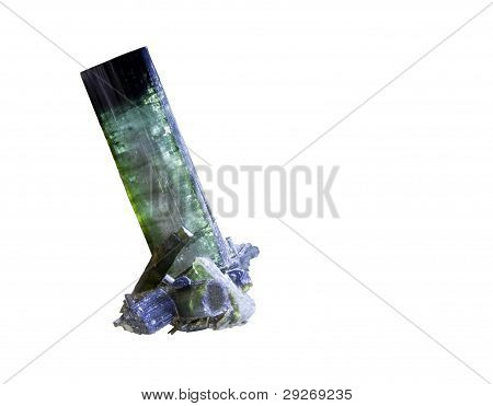 Tourmaline Crystal Isolated