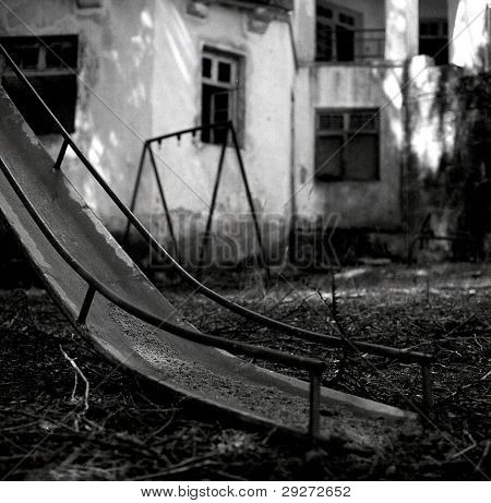 Old rusty playground