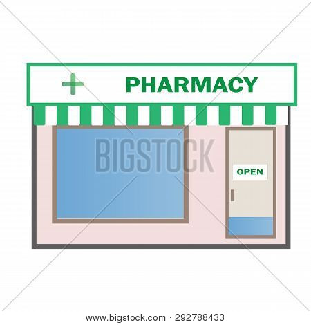 Pharmacy Shop Icon On White